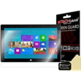 TECHGEAR® **PACK OF 2** Microsoft Surface RT / Pro Windows 8 Tablet CLEAR Screen Protector with cleaning cloth
