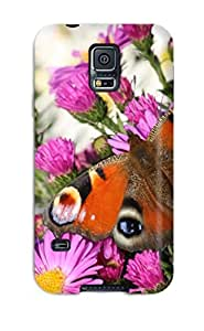CaseyKBrown Case Cover Protector Specially Made For Galaxy S5 Peacock Butterfly