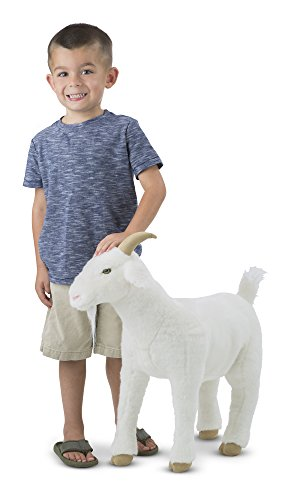Goat Stuffed Animal (Melissa & Doug Standing Lifelike Plush Goat Stuffed Animal, 22 x 22.5 x)