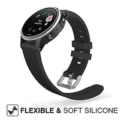"Garmin Fenix 5S Watch Band, MoKo Soft Silicone Replacement Watch Band Strap for Garmin Fenix 5S Smart Watch, Not Fit Fenix 5 5X, Fit 5.31""-8.46"""