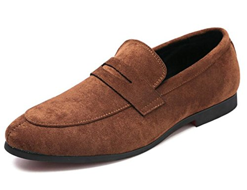 Slip Loafers Oxford Dark Suede Men's Shoes XIUWU Camel Footwears Ons Leisure qxTRXtqw0