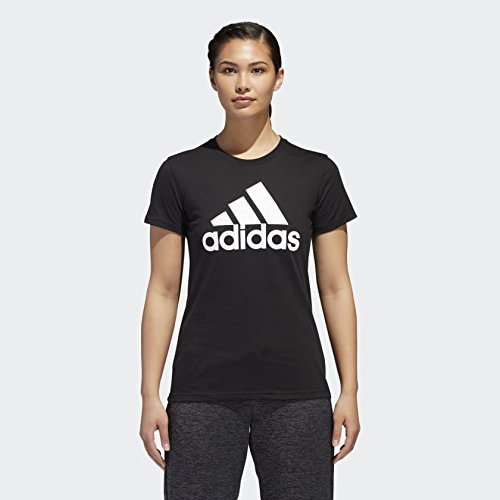 adidas Womens Badge of Sport Logo Tee, Black/White/Classic, X-Large