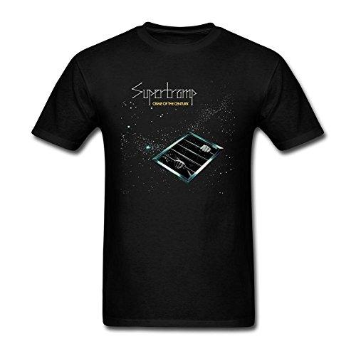 Dotion Men's Supertramp Band Design T Shirt (Heart Steel Cold)