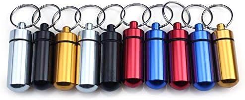 Amazon.com: ewin (R) 10pcs Aluminio Caja de Píldora Botella ...