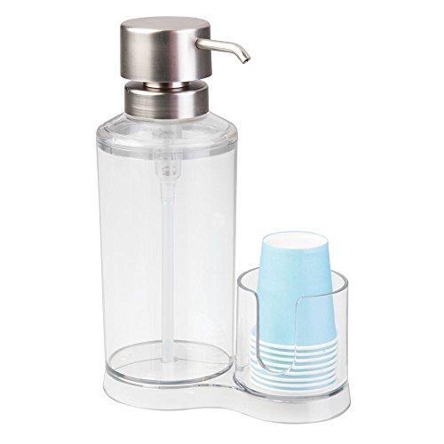 InterDesign Clarity Mouthwash Dispenser Brushed