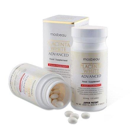Mosbeau Placenta White Adv Supplement 650mg 120 Tabs by Mosbeau