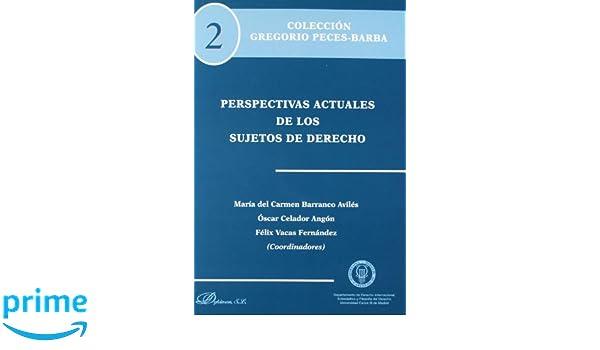 Perspectivas Actuales De Los Sujetos De Derecho Colección Gregorio Pereces-Barba: Amazon.es: Cástor Díaz Barrado [et al.], María del Carmen Barranco Avilés, ...