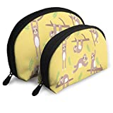 Pouch Zipper Toiletry Organizer Travel Makeup Clutch Bag Yellow Sloth Portable Bags Clutch Pouch Storage Bags