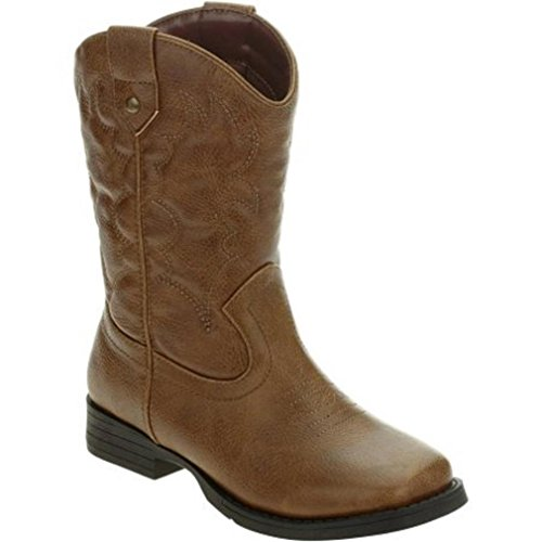 Price comparison product image Faded Glory Boys / Girls Childrens Cowboy Boots Size 6 EUR 38.5 Man Made Materials