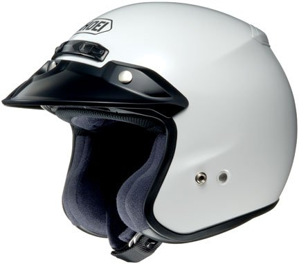 Shoei RJ Platinum R Open-Face Helmet - X-Large/White