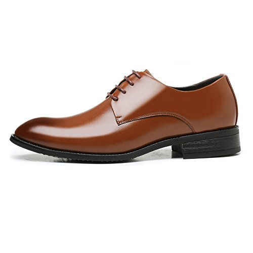 Hommes Oxford Cuir Supérieur Lacets MXNET Doublé Marron Matte Hommes Chaussures d'affaires Respirant Classique Cuir PU À Formelle Oxfords Chaussures pour FtCxxwq