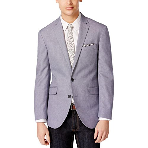 Wholesale Kenneth Cole Blue White Birdseye Two Button New Men's Sport Coat free shipping