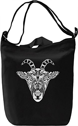Tribal goat Borsa Giornaliera Canvas Canvas Day Bag| 100% Premium Cotton Canvas| DTG Printing|
