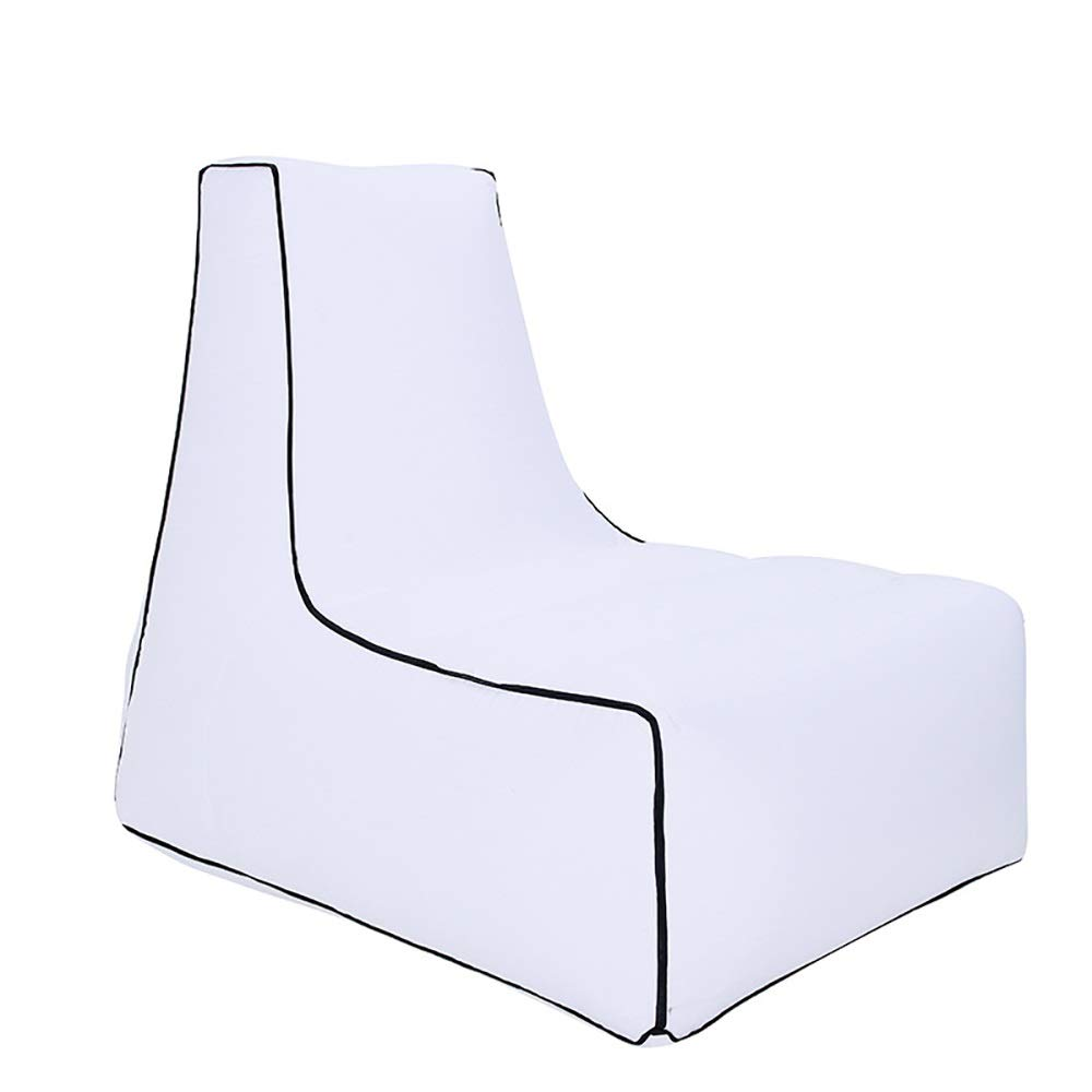 blanc L(100x80x90cm) Peu east Piscine Camping Sac de Couchage Paresseux Coussin d'air intérieur et extérieur Coussin de Plage portable Décompression