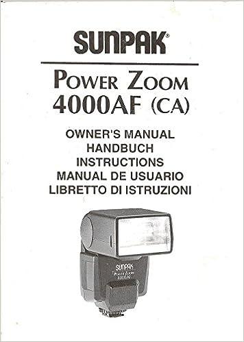 Powerful sunpak bounce power zoom ttl dedicated auto lcd flash for.