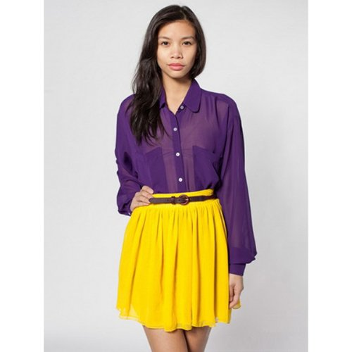10efae5bc4 Women Empire Waist Chiffon Pleated Skirt Yellow: Amazon.in: Clothing &  Accessories