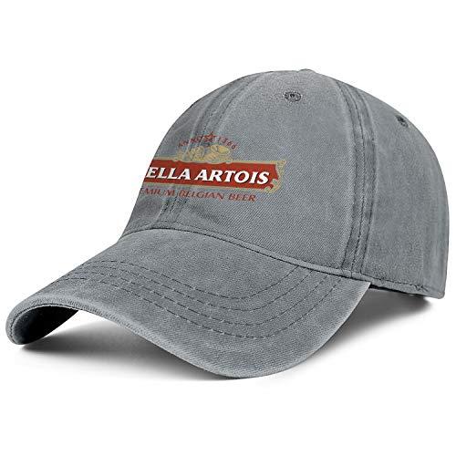 Outdoor Cartoons Unisex Cotton Breathable Adjustable Baseball Cap Stella-Artois-Premium-Belgian-Beer-Sunshade ()