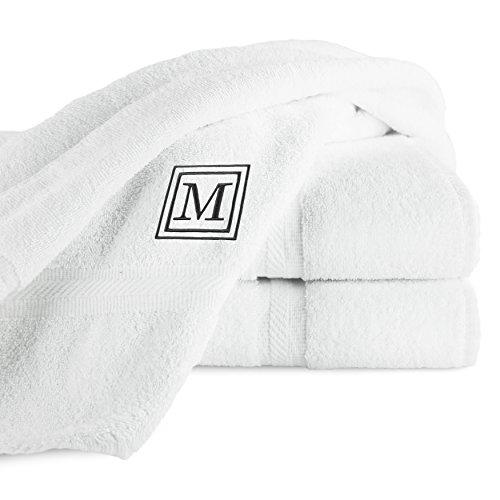 luxor-linens-3-piece-100-egyptian-cotton-bath-towel-set-oversized-black-monogrammed-letter-m-white