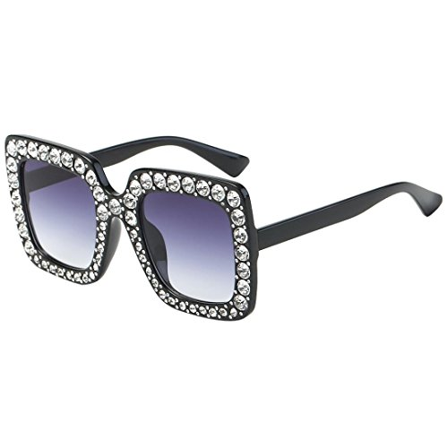TOOPOOT Clearance Deals Glasses, Lady Summer Vintage Retro Artificial Diamond Cat Eye Glasses Outdoors Sunglasses - Sunglasses D Frame