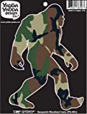 "Sasquatch in Camo Print - Bigfoot Camouflage - Peel and Stick Decal Sticker - Copyright 2016 Yadda-Yadda Design Co. [4""w x 6""h]"