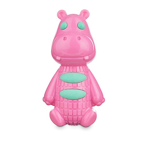 Leaps & Bounds Chomp and Chew Foamy Hippo TPR Dog Toy, Medium