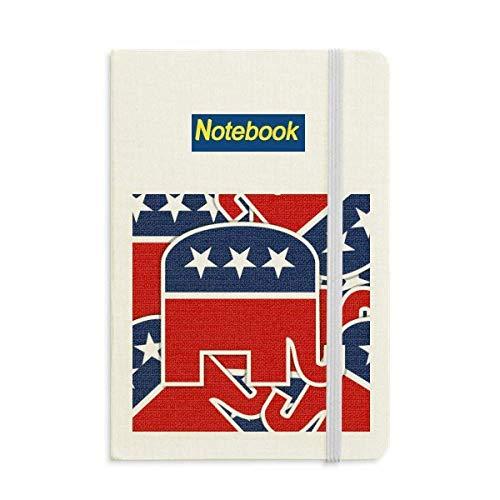 Classic Republican Elephant - America Elephant Emblem Republican Notebook Classic Journal Diary A5