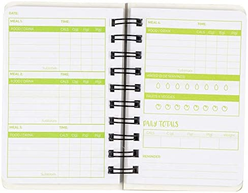 Paper Junkie 3 Pack 90 Day Meal Tracker Pocket Food Journal for Diet, Calorie Counting, Weight Loss, 5 x 3.5 Inches 7