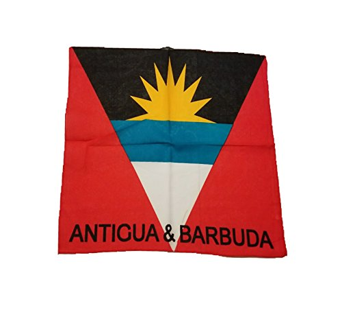 ANTIGUAN AND BARBUDA FLAG ANTIGUA Bandana BIKER DURAG HEAD WRAP SCARF SIZE: 22 X ()