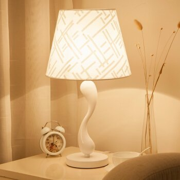 MKKM Table lamp-Smart remote control dimmable led lamps decorated bedroom color palette of the bed desk reading light with remote control,No of poles dimming Color Palette