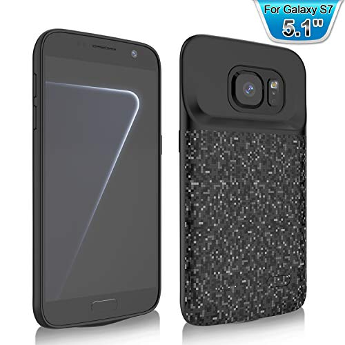RUXELY (Upgraded) Galaxy S7 Battery Case, 4700mAh Portable External Backup Charging Case,Rechargeable Power Charger Pack for Samsung Galaxy S7(Not for Galaxy S7 Edge)(Black) (Samsung Galaxy S7 Edge Backpack Battery Case)