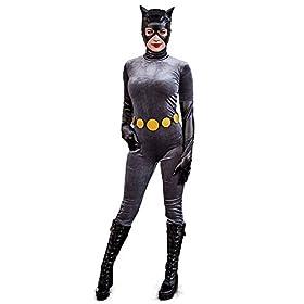 Women's Anime Catwoman Costume Cosplay Suit Halloween 41Dz2C6Y24L
