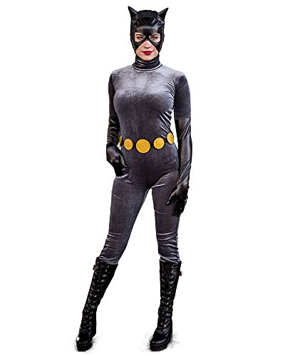 - 41Dz2C6Y24L - Cosplay.fm Women's Anime Cat Woman Velvet Costume Cosplay Suit Halloween