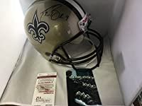 Drew Brees Autographed Signed New Orleans Saints Full Size Helmet JSA Witnessed COA & Hologram W/Photo From Signing