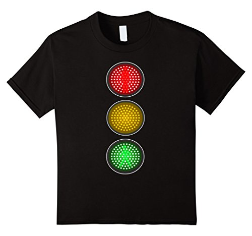 Teacher Group Costume Ideas (Kids Traffic Signal Light Halloween Group Costume Idea T-Shirt 12 Black)