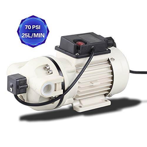 TDRFORCE Chemical Pump Water Diaphragm Pump Electric Self Priming Dispensing Pump 115VAC 25L/Min(6.8GPM) 70PSI for Irrigation Liquid Transfer