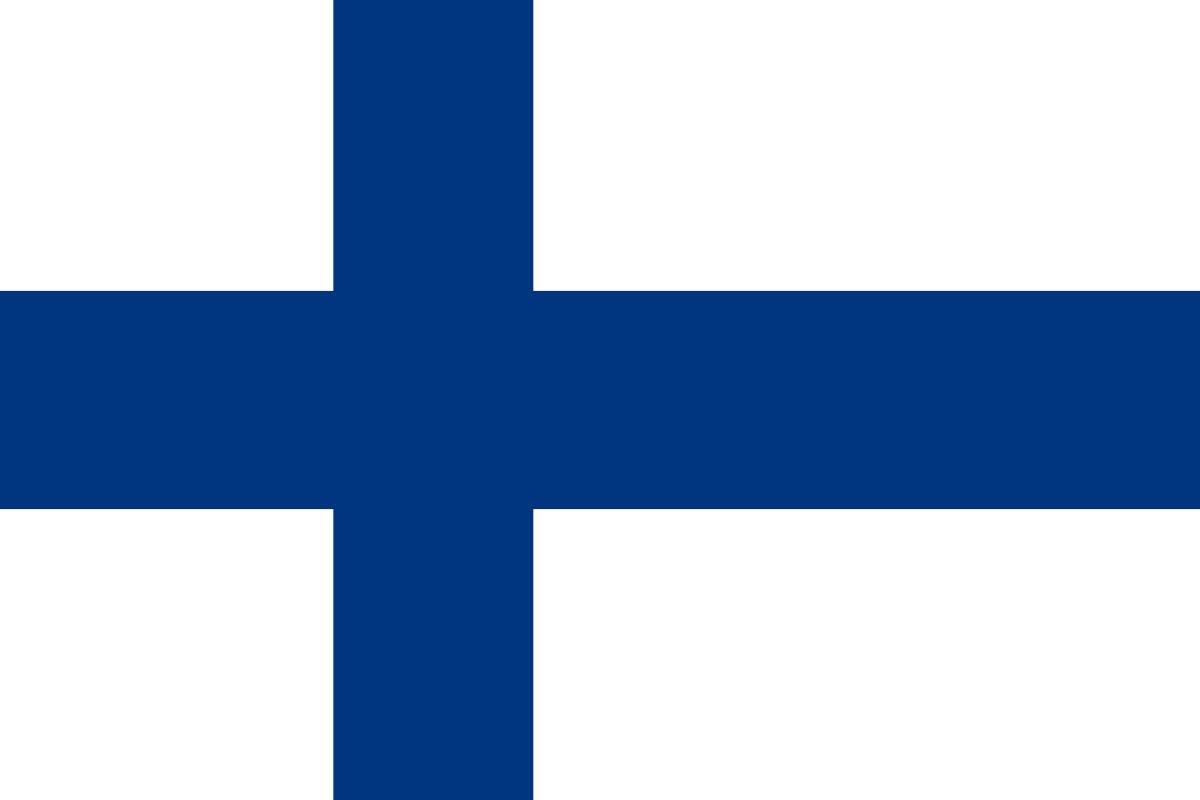 Bandera De Finlandia 150 x 90 cm Sat/én Finland Flag Durabol