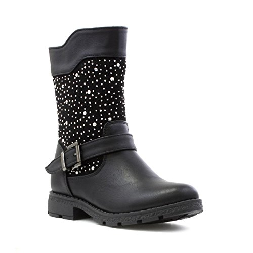 Price comparison product image Walkright Girls Black Sparkle Calf Boot - Size 13 Child UK/1 Youth US - Black