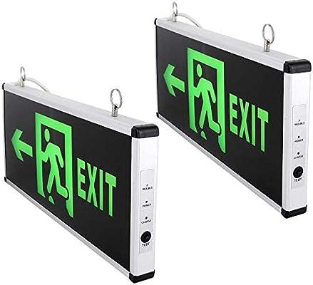 Lámpara LED Cartel - Salida de emergencia ext - Not Exit 230 ...
