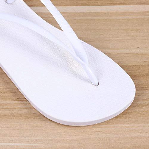 Taille fait Blanc 5 40 Pantoufles Chaussures Spa de au nbsp;paires fourrure pour Healifty Lin jardinage d'été nbsp; Référence femme Mode Home Lucy Tongs 7wSHnxq4x