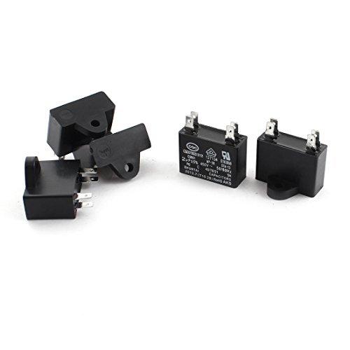 DealMux AC 450V 2UF 50/60Hz CBB61film de polypropylène de condensateurs 5pcs