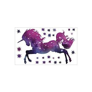 "Bamsod Dream Unicorn Wall Stickers Kids Wall Decals Vinyl Art for Girls Boys Bedroom,Home Decor 14""x23.6"""
