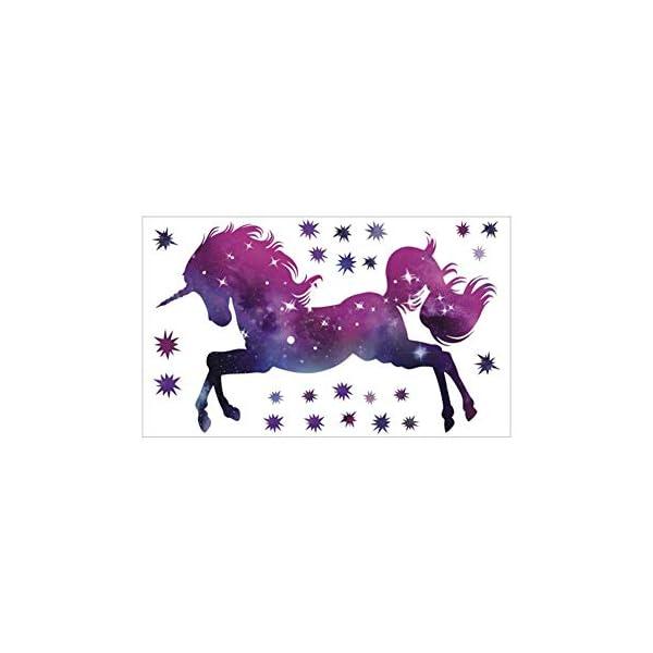 Bamsod Dream Unicorn Wall Stickers Kids Wall Decals Vinyl Art for Girls Boys Bedroom,Home Decor 14''x23.6'' 4