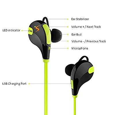 Wireless Bluetooth Earphones 4.1 Tehmis Updated Qy7 Mini S601bt Wireless Sports Headphones Running Gym Exercise Sweatproof Headsets In-ear Stereo Earbuds Noise Cancelling Earphones with Microphone
