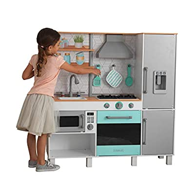 KidKraft 53421 Gourmet Chef Play Kitchen with EZ Kraft Assembly Gray: Toys & Games