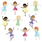 10 Dancing Ballerina Wall Decals Matte Fabric Eco-Friendly Ballerinas Dancers Decals