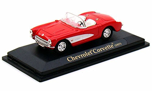 Yatming 1957 Chevrolet Corvette Convertible 1/43 Scale Diecast Model Car (43 Red Diecast Model)