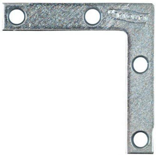 Pack of 4 N113845 2-Inch x 3//8-Inch Flat Corner Braces Irons NATIONAL MFG//SPECTRUM BRANDS HHI N113-845 National Mfg