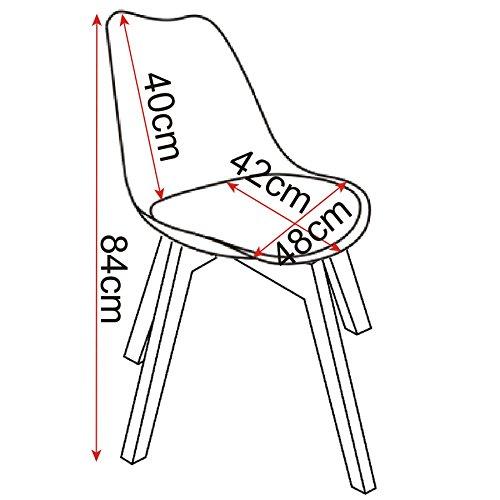 Woltu bh29ws 2 2 x chaises salle manger jeu de 2 for Interieur gov dz vote