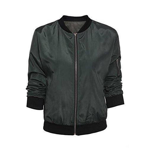 Blouson Mode Aviateur Veste Cool Matelass Manteaux Bomber YUYOUG Jacket Femme Femme Coutures Classique aTxvZqXw