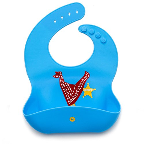 Kids N' Such Baby Bibs for Boys 3 Pack - 100% Food Grade Silicon - Waterproof with Food Catcher - Easy Clean - Anti Bacterial, Anti Microbial, Dishwasher Safe - Cute Designs for Your Baby Boy by Kids N' Such (Image #8)